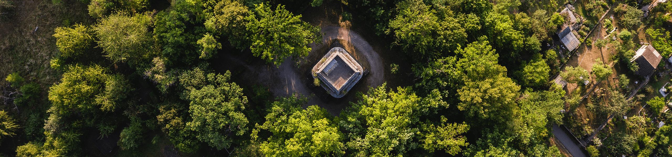 Luftaufnahme des Tübinger Bismarckturms